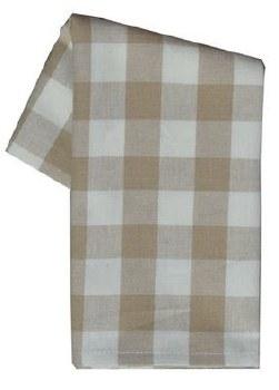 "Buffalo Check 20"" x 28"" Tea Towel- Wheat & Cream"