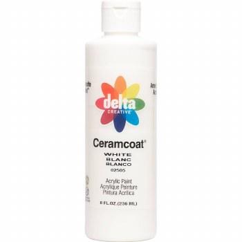 Delta Ceramcoat Acrylic Paint, 8oz- White