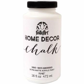 FolkArt Home Decor Chalk Paint 16oz- White Adirondack