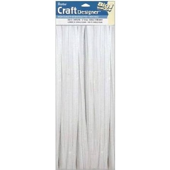 Darice Chenille Stems 100 pc- 6mm White