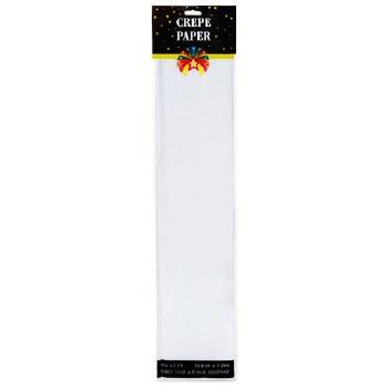 "7.5ft x 20"" Crepe Paper Folds - White"