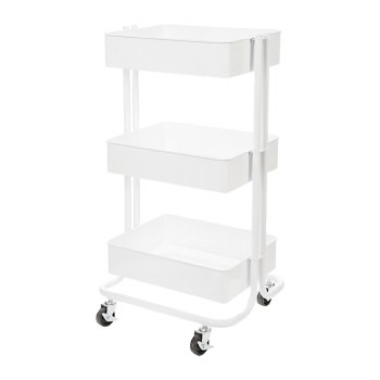 Rolling Utility Cart- White