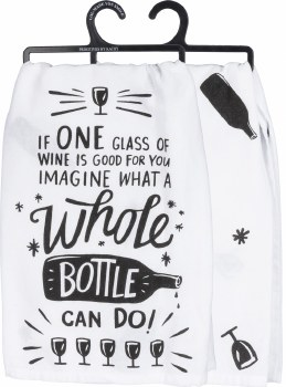 Dish Towel- Whole Bottle of Wine