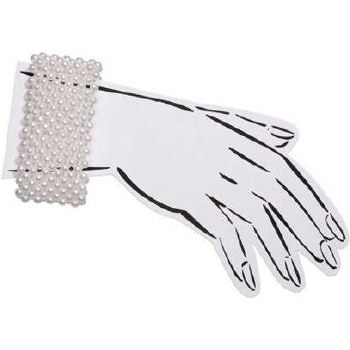 White Pearl Stretchable Wrist Corsage