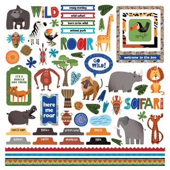 A Walk on the Wild Side Sticker Sheet