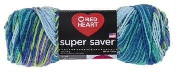 Red Heart Super Saver Yarn, Mulit-Color- Wildflower