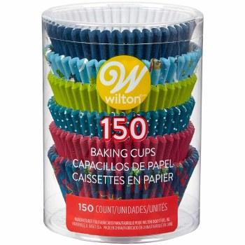 Baking Cups, 150ct- Snowman & Friends