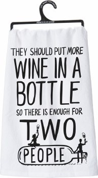 LOL Dish Towel- Wine for Two