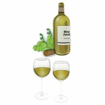 Jolee's Food & Drink Dimensional Embellishments- Wine Glass & Bottle