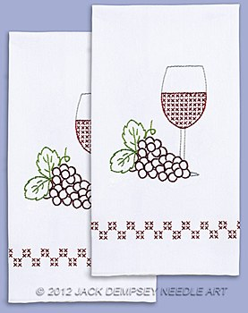 Hand Towels- Wine & Grapes