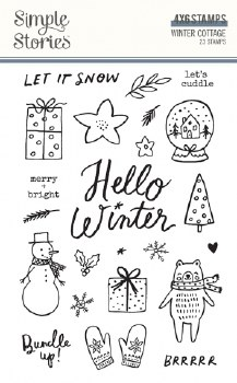 Winter Cottage Clear Stamps