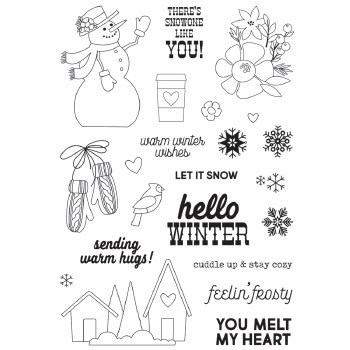 Winter Farmhouse Stamp/Dies- Clear Stamp Set