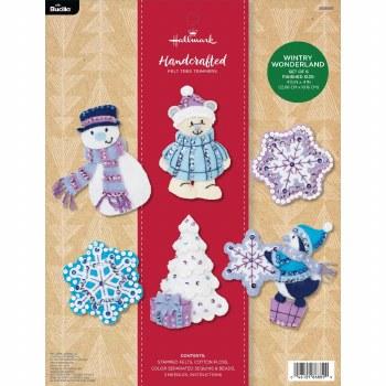 Bucilla Felt Ornament Kit- Wintry Wonderland