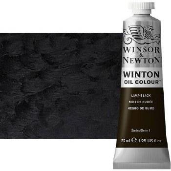 Winsor & Newton Oil Color, 37ml- Lamp Black