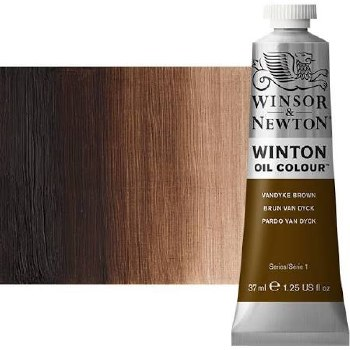 Windsor & Newton Oil Color, 37ml- Vandyke Brown