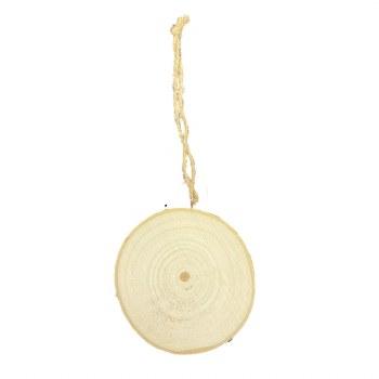 Wood Disc Ornament