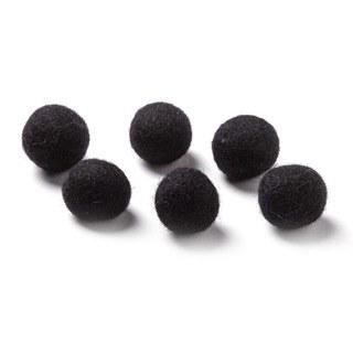 """Wool Bead 5/8""""- Black"""