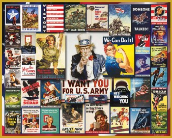 WWII Poster Collage - 1,000 Piece Puzzle