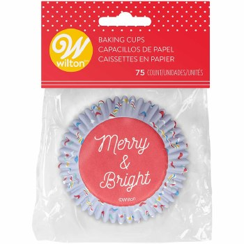 Standard Baking Cups- Merry & Bright, 75ct