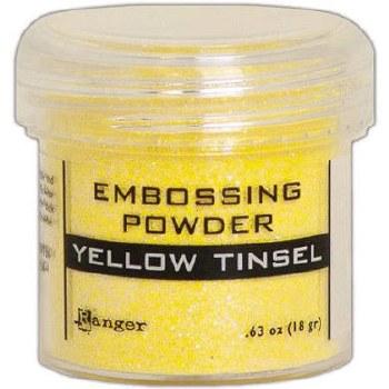 Embossing Powder- Tinsel, Yellow