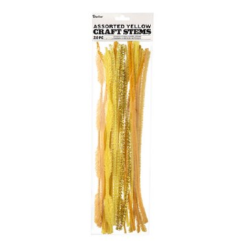 Chenille Craft Stem Assortment- Yellow Mix
