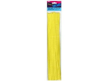 "Darice Chenille Stems 6mm, 12""- Yellow"