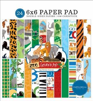 Zoo Adventure 6x6 Paper Pad