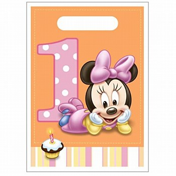 Minnies 1st Birthday Loot Bag