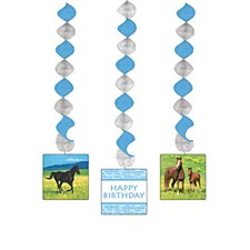 Wild Horses Dangling Cutouts, 3ct