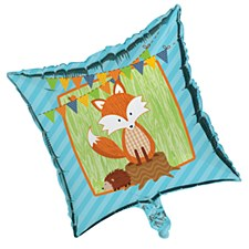 Forest Fox Square Metallic Balloon