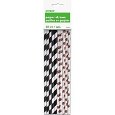 Football Paper Straws 10ct.