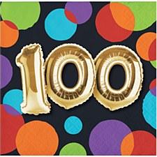 100 Balloon Birthday Bev Napkin