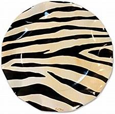 Zebra Print 8IN Plates