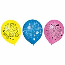 Blues Clues 6 Latex Balloons