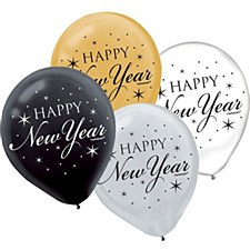 New Year Latex Balloons