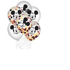 Mickey Confetti Latex Balloons