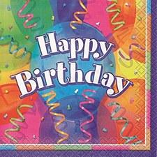 Brilliant Birthday Beverage Napkins 16ct