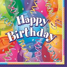 Brilliant Birthday Luncheon Napkins 16ct