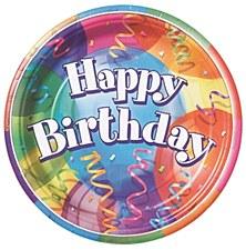 "Brilliant Birthday 9"" Lunch Plates 8ct"