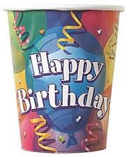 Brilliant Birthday 9 oz. Cups 8ct