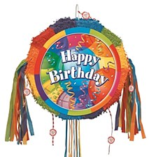 Brilliant Birthday Drum Pull Pop-Out Pinata