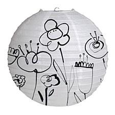 Mod Blooms Round Lantern
