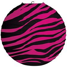 Pink Zebra Lantern