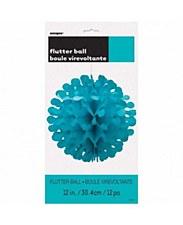 """12"""" Flutter Ball- Caribbean Teal"""