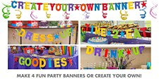 Rainbow Customizable Letter Banner - Printed Paper
