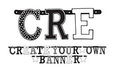 Black & White Customizable Letter Banner - Printed Paper
