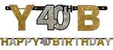 Sparkling Celebration 40th Birthday Letter Banners
