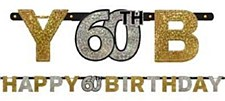 Sparkling Celebration 60th Birthday Letter Banners