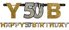 Sparkling Celebration 50th Birthday Letter Banners