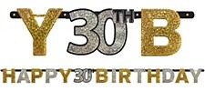 Sparkling Celebration 30th Birthday Letter Banners